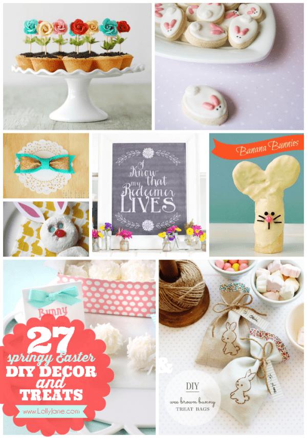 27 Springy Easter DIY Decor & Treats