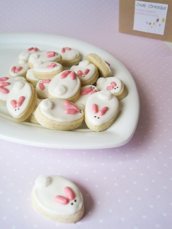 Bunny Cookies + 26 other cute spring/Easter ideas! lollyjane.com