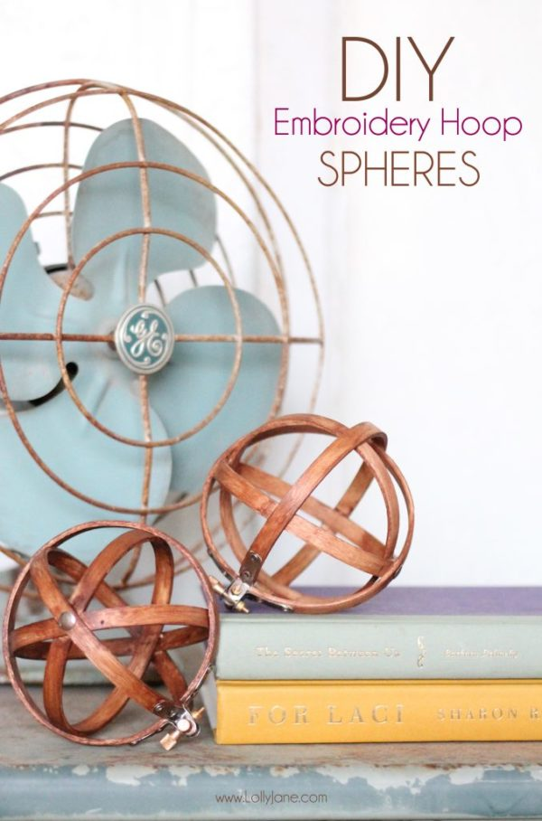 DIY Embroidery Hoop Spheres (lollyjane.com)