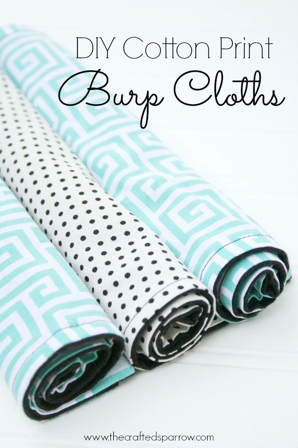 Cute! DIY print burlp cloths