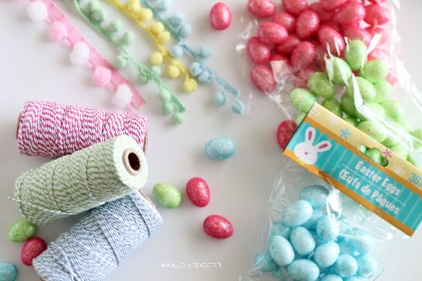 Make your own Easter egg garland... for less than $5 and in 10 minutes!