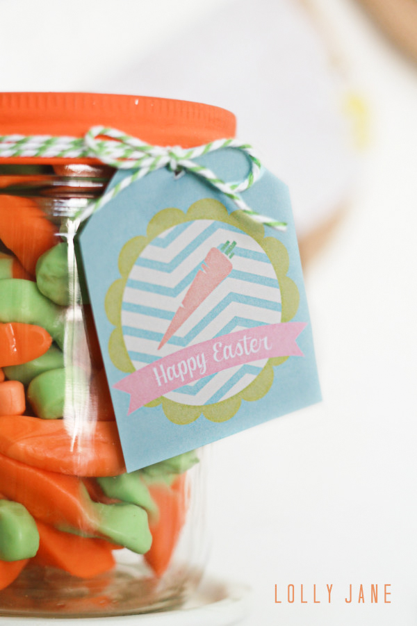 FREE Easter printable tag with cute carrot on it