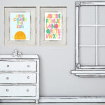 Printable childrens art. FREE 8x10 prints via www.lollyjane.com