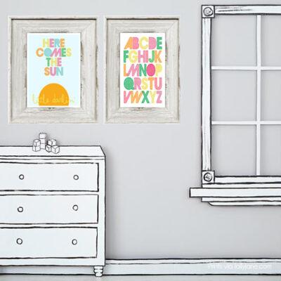 Free childrens art prints