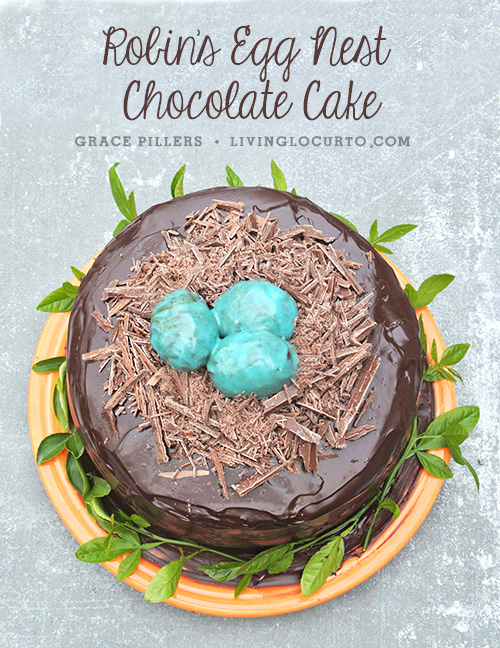 Robin's Egg Nest Chocolate Cake + 26 other cute Easter/spring ideas! via lollyjane.com