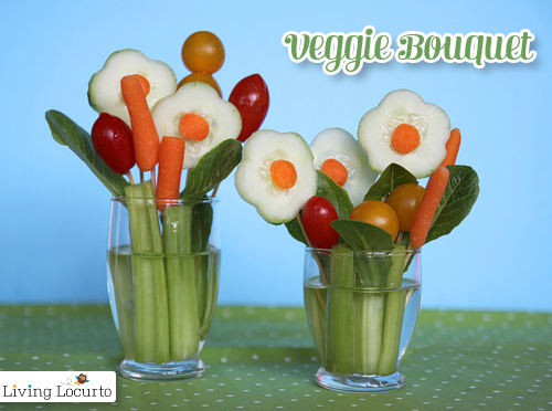 Veggie Bouquet + 26 other cute Easter/spring ideas! via lollyjane.com