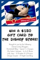 Enter to WIN a $150 Disney Gift Card!! Whoo hoo!