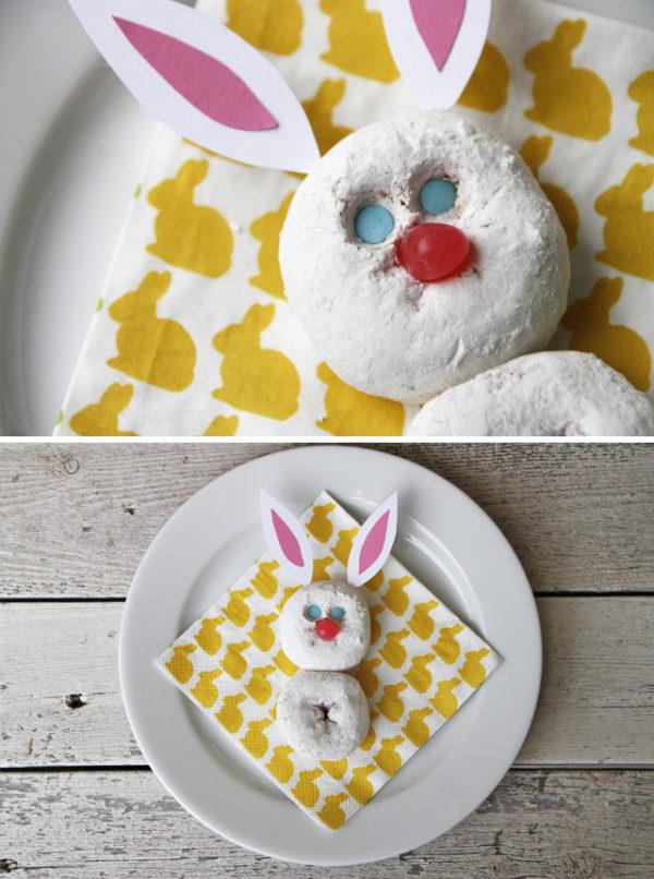 Cute spring donut bunny