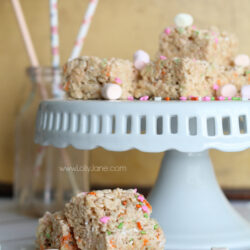 Spring rice crispy treats + Easter pin party!