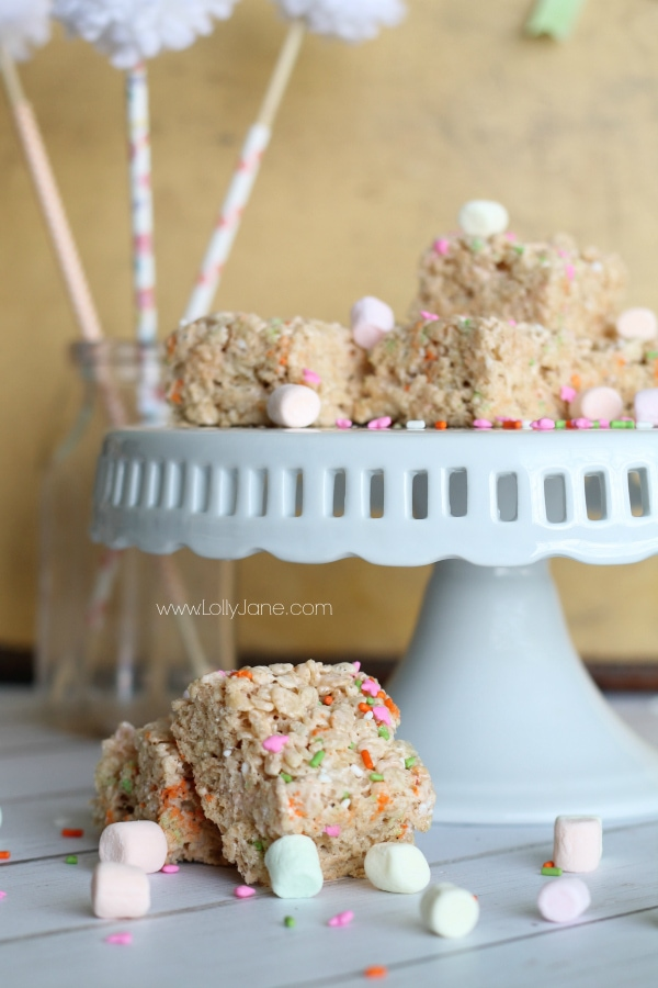 Spring Rice Crispy Treats