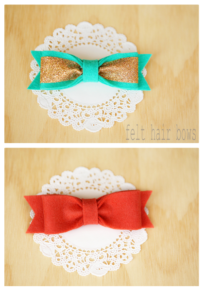 spring felt hair bows | eighteen25.com