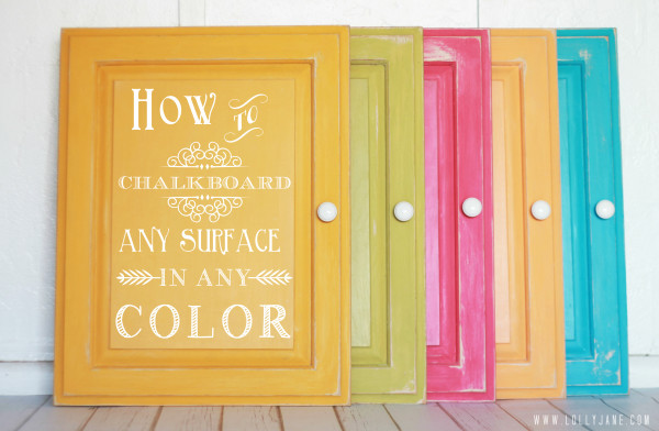 How to chalkboard ANY surface in ANY color. Awesome tutorial!