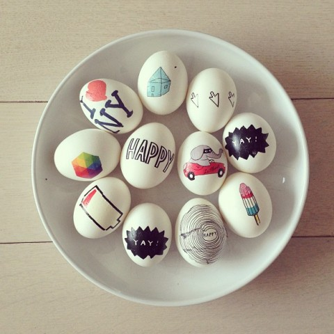 Tattoo Easter Eggs + 26 other cute Easter/spring ideas! via lollyjane.com