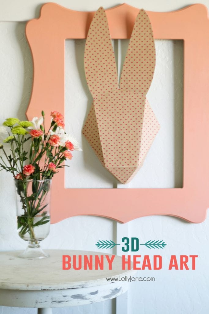 3D bunny head art