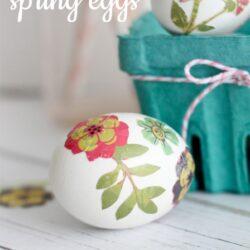Paper transfer spring eggs