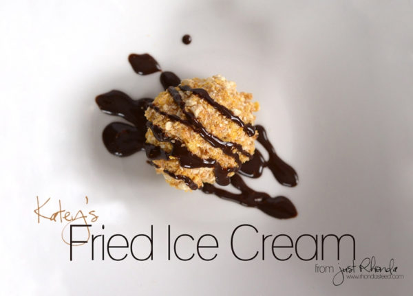 Fried Ice Cream. YUM! via @rhondasteed