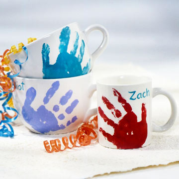 Handprint Mug + more fun Mothers Day gift ideas!