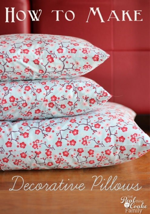 How To Make A Throw Pillow Form : 13 DIY projects
