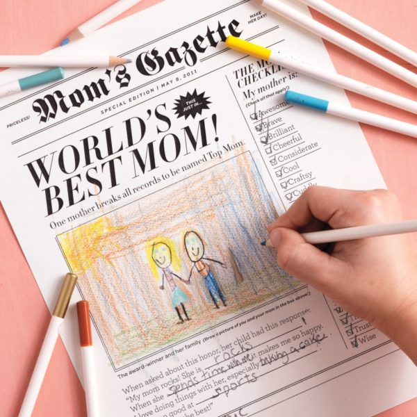 Mothers Day newspaper printable + lots of other Mothers Day ideas!