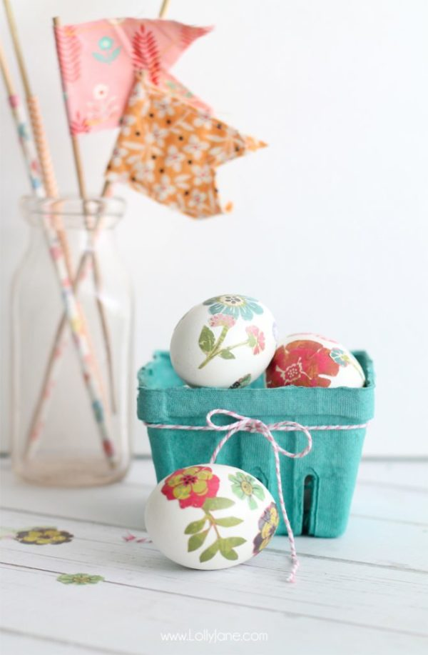 Paper Transfer Spring Eggs tutorial by lollyjane.com