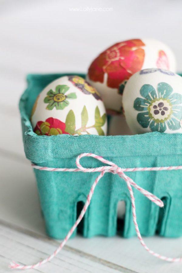 Paper Transfer Spring Eggs tutorial by lollyjane.com