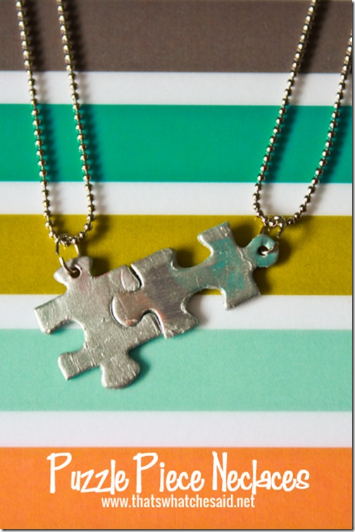 Puzzle Piece Necklace + lots of other Mothers Day gift ideas!