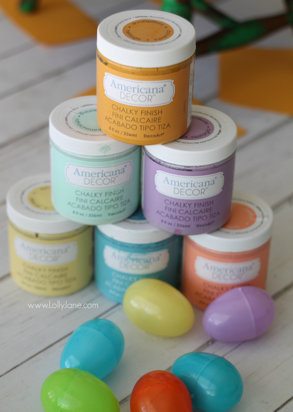 "Come see the ""after"" chalky Easter eggs, so pretty for spring! @lollyjaneblog"