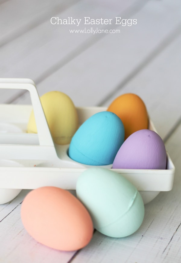 Chalky Easter Eggs, a fun, colorful tutorial! So easy! @lollyjaneblog