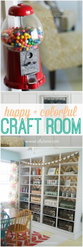 Happy colorful craft room, lots of pics! @lollyjaneblog