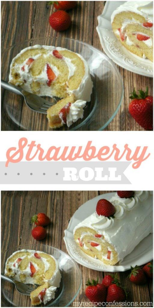 Strawberry Roll recipe. YUM!