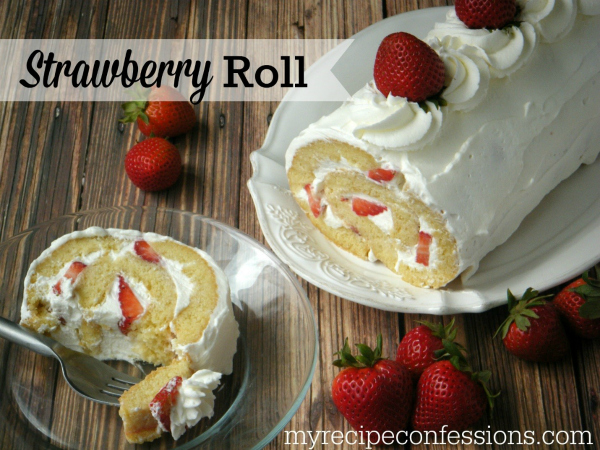 Yummy strawberry roll recipe!
