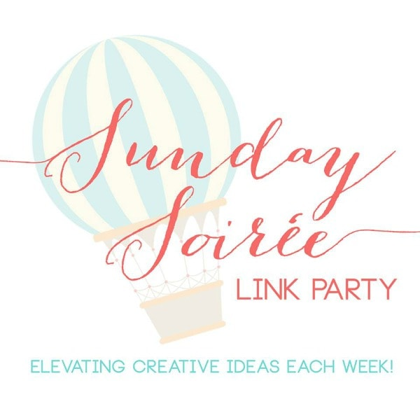 Sunday Soiree group link party! Link to  8 blogs to get YOUR goods featured!
