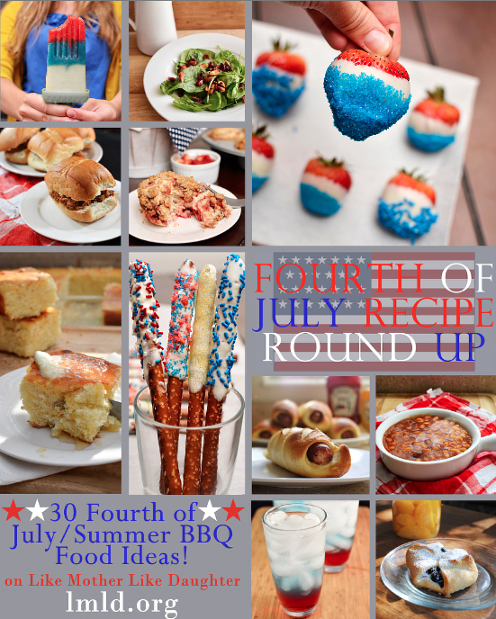 30 yummy Fourth of July recipes from @LmldFood! From breakfast to dinner to appetizers and drinks + desserts. Awesome!