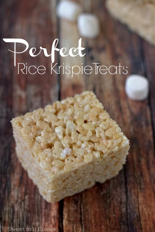 How to make the PERFECT Rice Krispie Treats   sweetasacookie.com