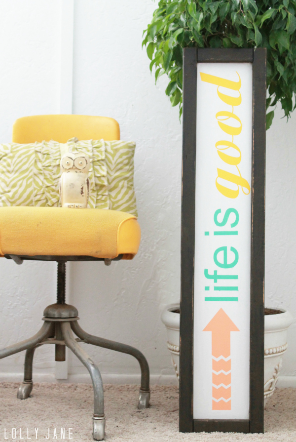 "Love this handpainted sign to remind us ""Life Is Good!"" via @lollyjaneblog"