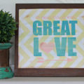 Make any printable into home decor! Easy and awesome tutorial via @lollyjaneblog