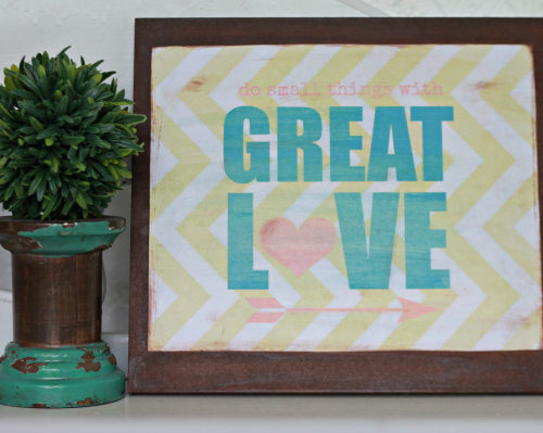 Turn printables into home decor
