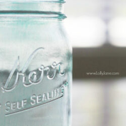 DIY vintage blue mason jar