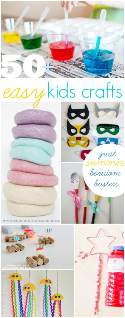 50+ easy kids crafts, great summer boredom busters!! via @lollyjaneblog