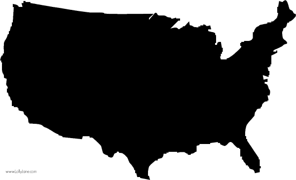 Free USA silhouette, use to make signs + more! @lollyjaneblog