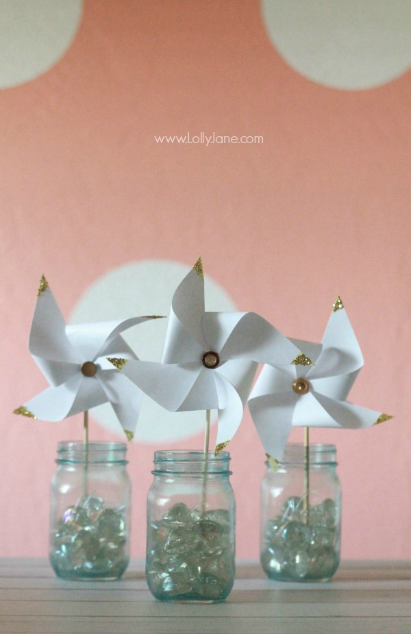 Gold Dipped Pinwheels tutorial
