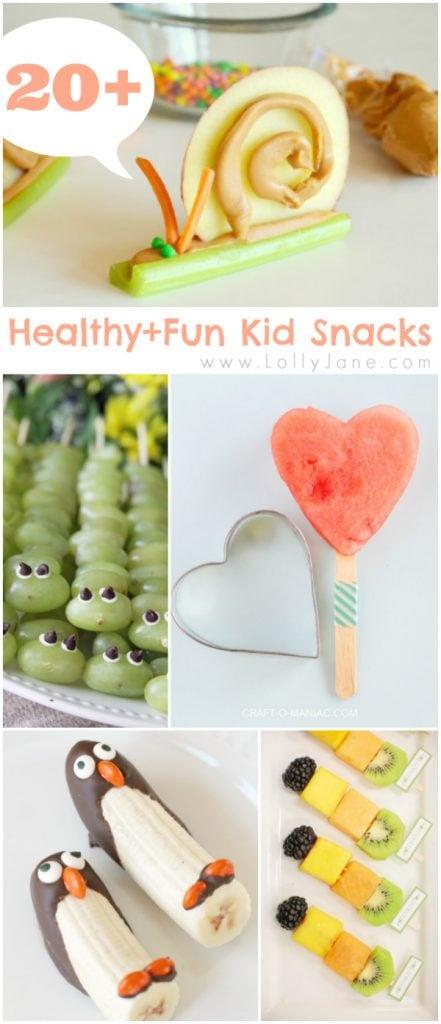 20+ healthy and fun kid snacks via @lollyjaneblog