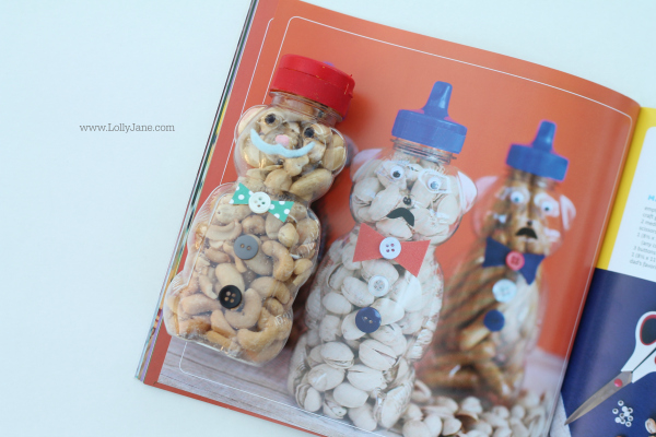 Party in a jar, craft ideas! Make these Father's Day bear snack jar ideas!! @lollyjaneblog