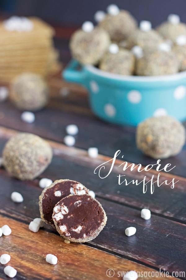 S'more Truffles via sweetasacookie.com