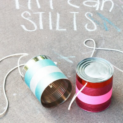 Kids Activity: Tin Can Stilts