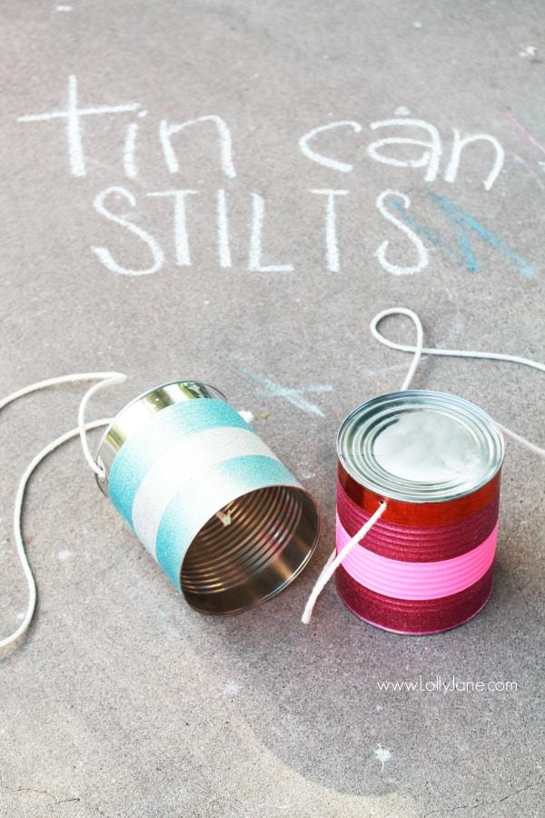 Easy tin can stilts tutorial via @lollyjaneblog