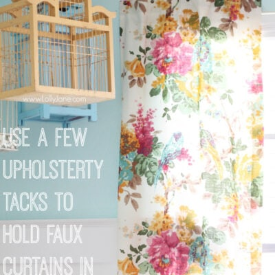 tip to hang curtains without using a rod