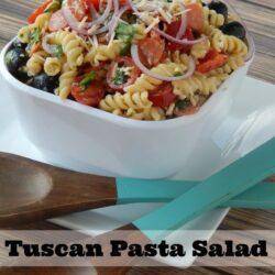 easy Tuscan pasta salad