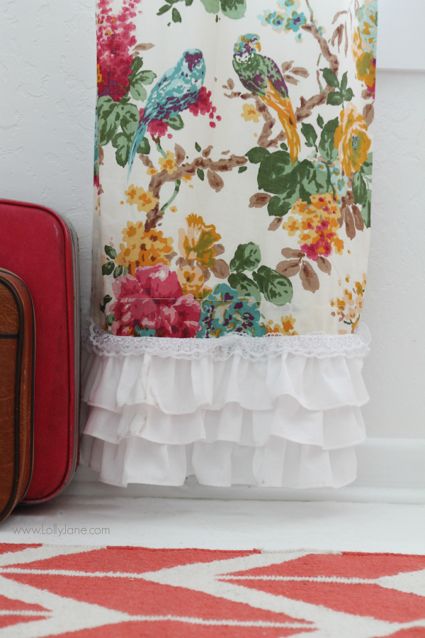 Add White Ruffles To These Pretty World Market Curtains To Add Length And  Customization! @