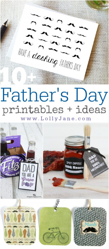 10+ Father's Day printables + ideas via @lollyjaneblog